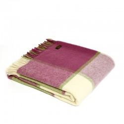 Plaid en laine vierge Block...