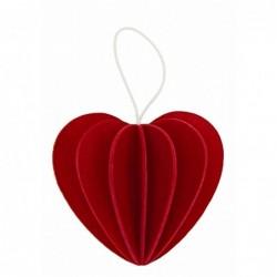 Lovi Coeur Décoration en bois de bouleau