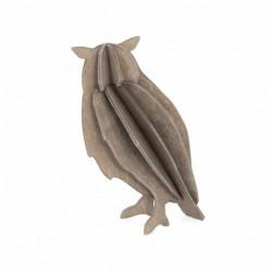 Lovi Chouette Décoration en bois de bouleau